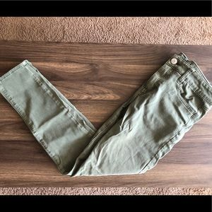 American Eagle Olive Green Jeggings
